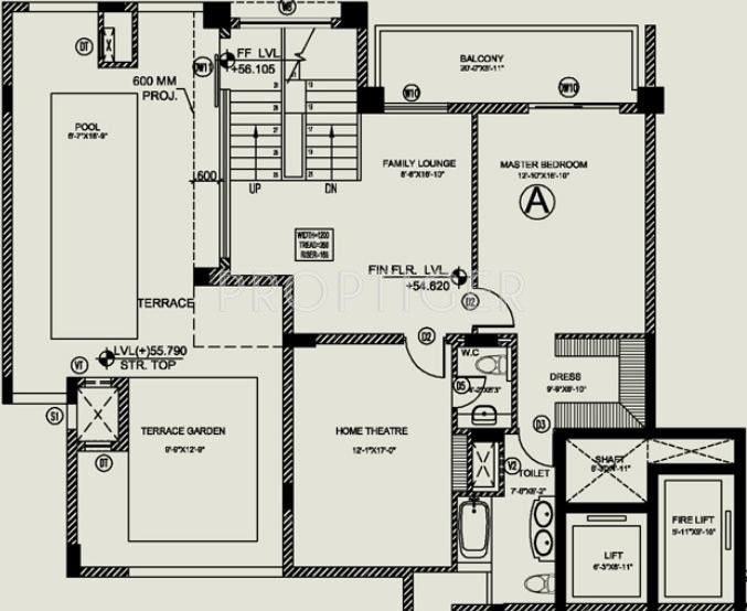 4500 Sq Ft 3 Bhk 4t Apartment For Sale In Central Park