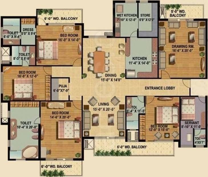 Omaxe Royal Residency (4BHK+4T (4,276 sq ft) + Servant Room 4276 sq ft)