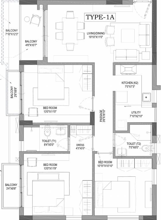 Tamilnadu Vastu House Plans besides Vastu Sleeping Direction together with 3bhk 2t 1139 Sqft Apartment likewise Bedroom Vastu For East Facing House in addition 3bhk 3t 2120 Sqft Apartment. on vaastu for home