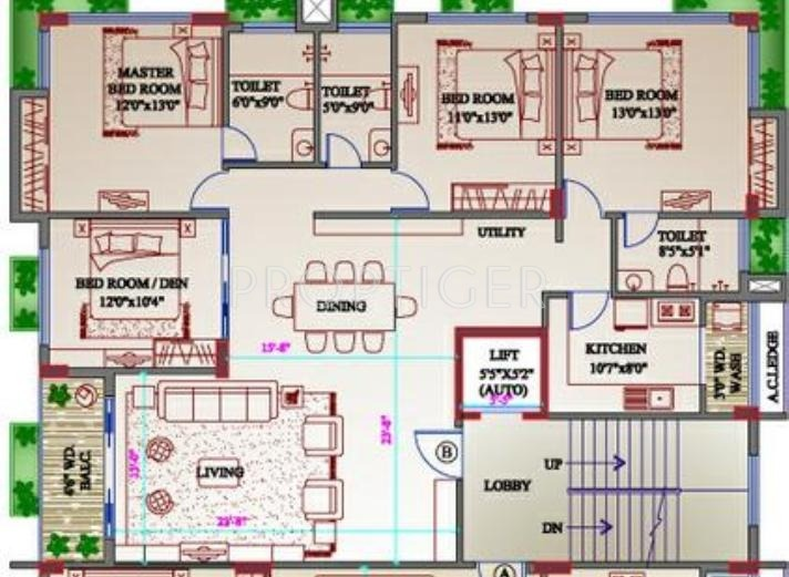 2600 sq ft 4 bhk 3t apartment for sale in orbit group for 2600 sq ft house cost