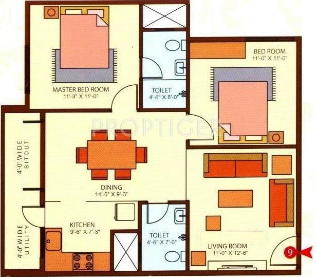Ram sai ram residency in kr puram bangalore price for X2 residency floor plan
