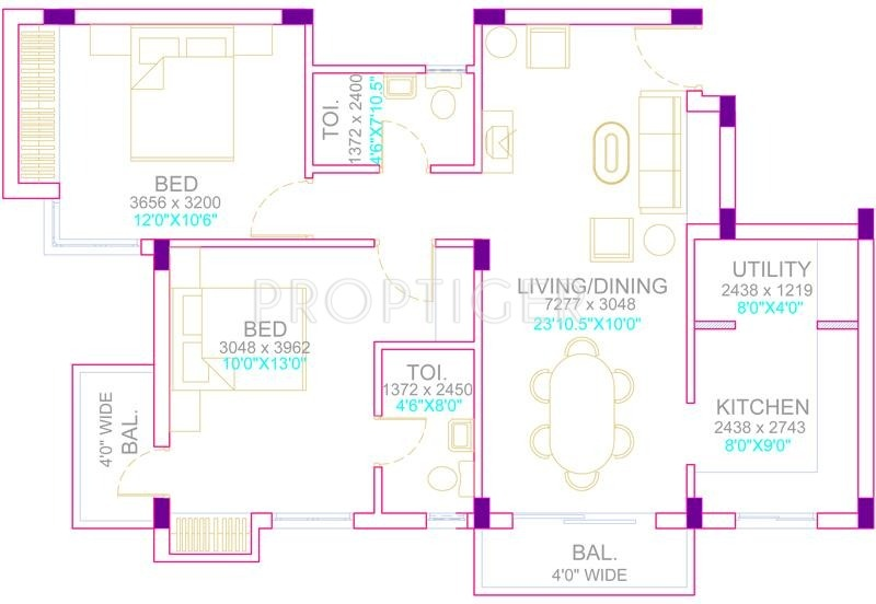1124 Sq Ft 2 BHK 2T Apartment For Sale In Ruby Builders