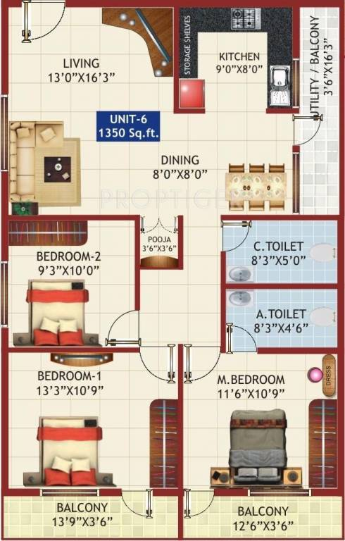 1350 sq ft 3 bhk 2t apartment for sale in sv infra alphyne for 1350 sq ft house plan
