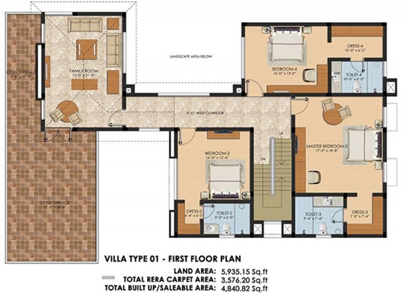 Chaitanya Bloomfield (4BHK+5T (4,840 sq ft) + Pooja Room 4840 sq ft)