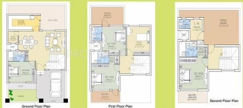2160 Sq Ft 4 Bhk Floor Plan Image Dlf Garden City Available For Sale Proptiger Com
