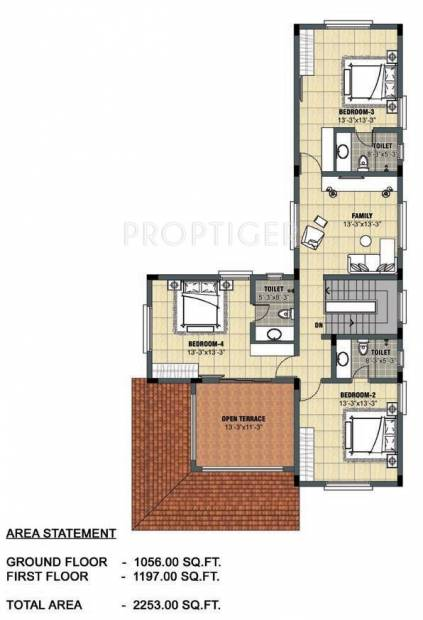 Lancor Town And Country (4BHK+4T (2,253 sq ft) 2253 sq ft)