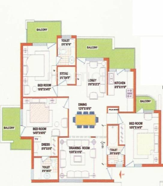 Opera Chandigarh Enclave (3BHK+3T (1,781 sq ft) 1781 sq ft)