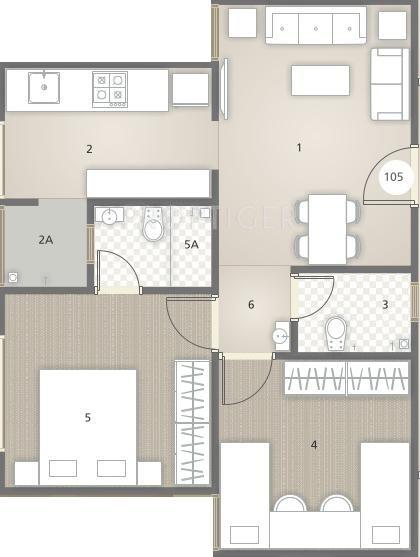 550 sq ft 2 bhk 2t apartment for sale in rajyash sandstone juhapura ahmedabad. Black Bedroom Furniture Sets. Home Design Ideas
