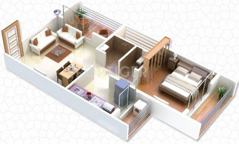 650 Sq Ft 1 Bhk Floor Plan Image Gaj Avenue Available