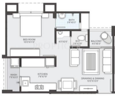981 sq ft 2 bhk 2t apartment for sale in sambhav for 675 sq ft floor plan