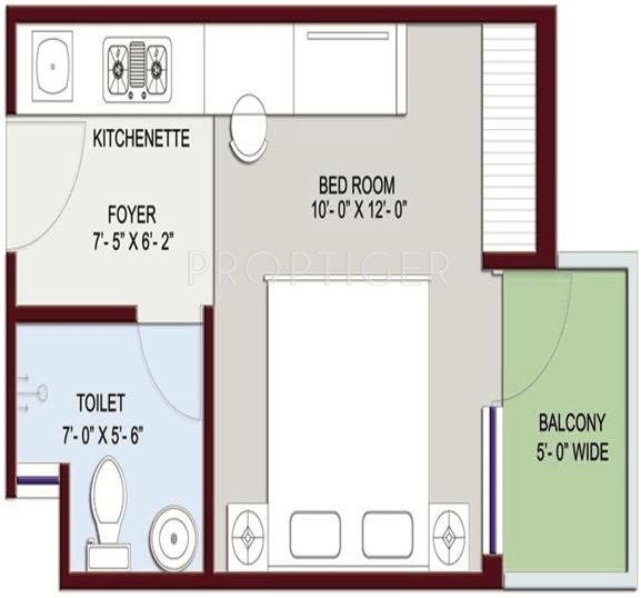 380 sq ft 1 bhk 1t apartment for sale in home and soul for 380 square feet floor plan