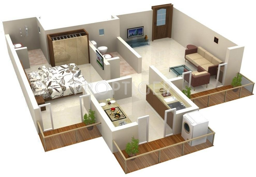 540 sq ft 1 bhk 1t apartment for sale in ritu gardenia