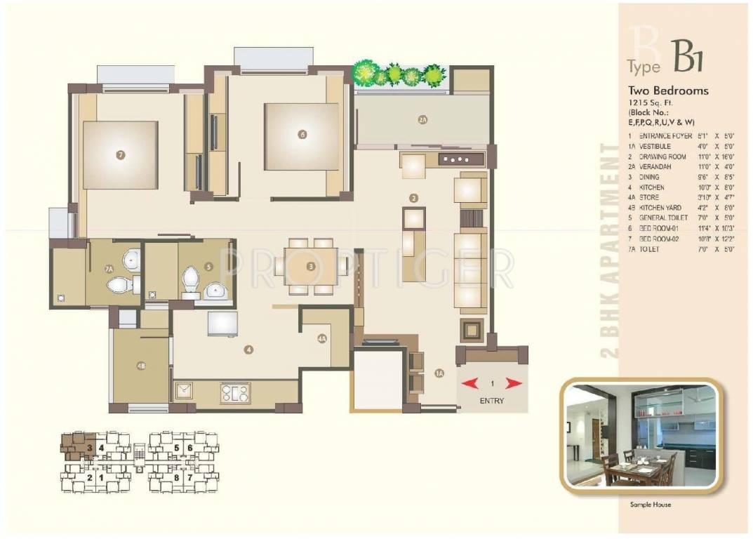 1215 sq ft 2 bhk 2t apartment for sale in venus for Parkland plan