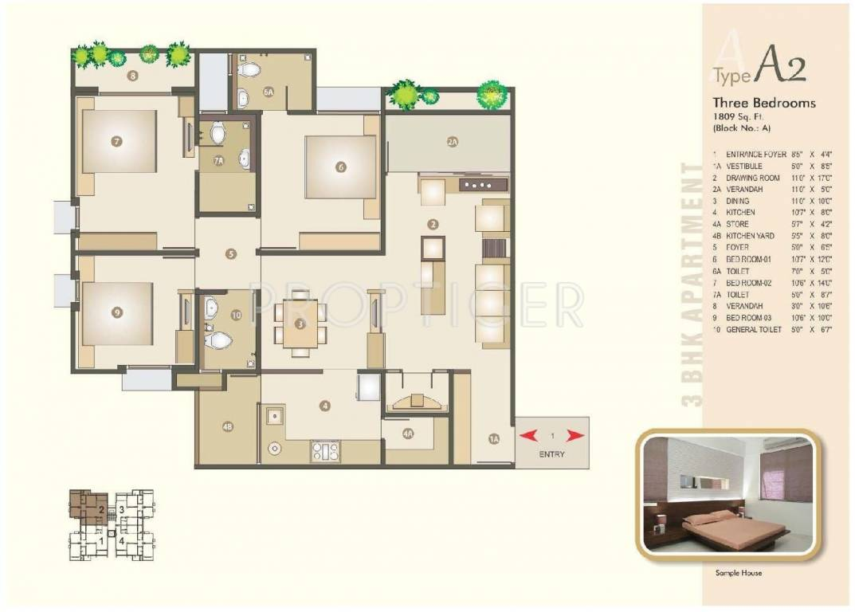 1809 Sq Ft 3 Bhk 3t Apartment For Sale In Venus
