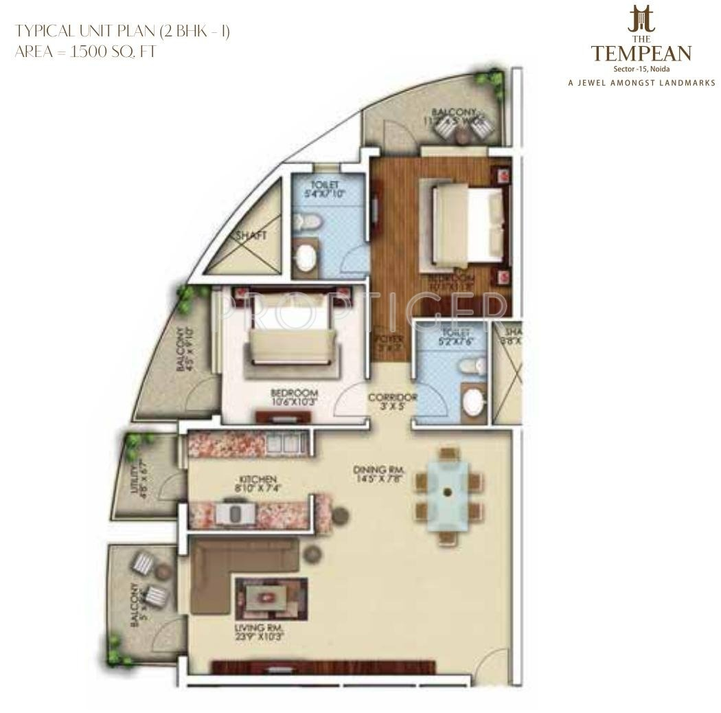 1500 sq ft 2 bhk 2t apartment for sale in aims the tempean for 1500 sq ft apartment floor plan