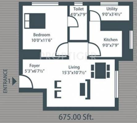 675 sq ft 1 bhk 1t apartment for sale in future homes for 675 sq ft floor plan