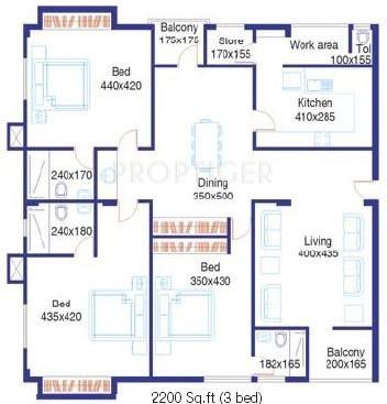 Santhi Thotekat Estate (3BHK+3T (2,200 sq ft) 2200 sq ft)