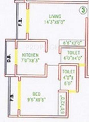 Mandar Heights (1BHK+2T (650 sq ft) 650 sq ft)