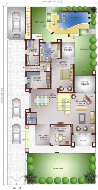 Ansal Palm Spring Villas (4BHK+4T (6,000 sq ft)   Study Room 6000 sq ft)