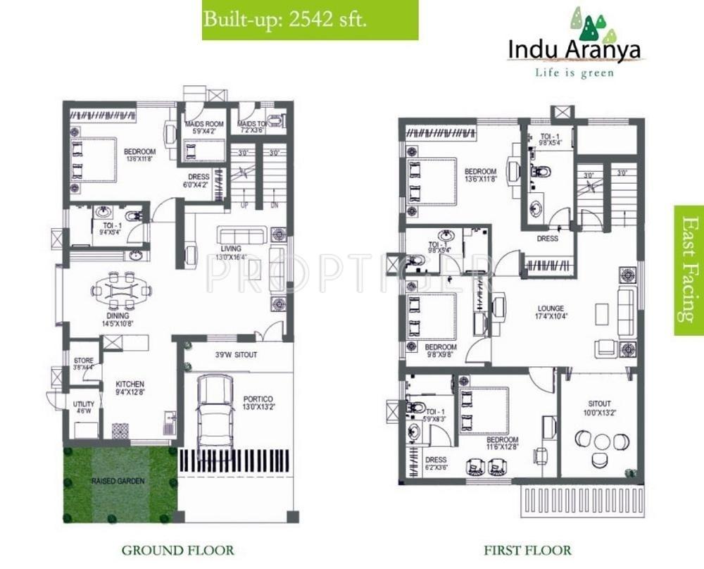 Indus Indu Aranya Villas In Nagole Hyderabad Price