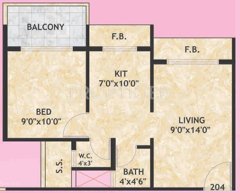 700 sq ft 1 bhk 1t apartment for sale in galaxy group