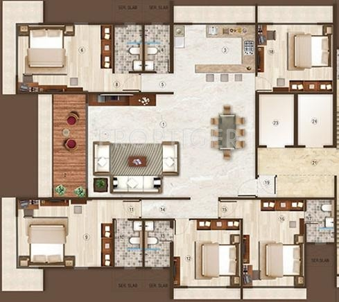 Dedhia Group Builders and Developers Nakshatra Floor Plan (5BHK+5T)