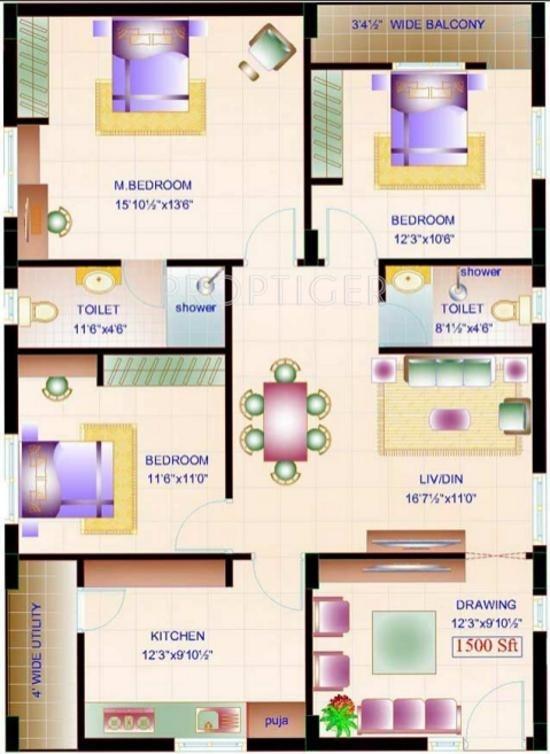 Amulya Amulya Fortune In Miyapur Hyderabad Price Location Map Floor Plan Reviews
