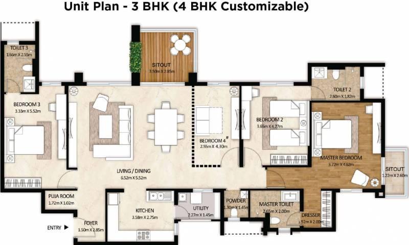 Mahindra Windchimes Phase 2 (3BHK+4T (2,370 sq ft) + Pooja Room 2370 sq ft)
