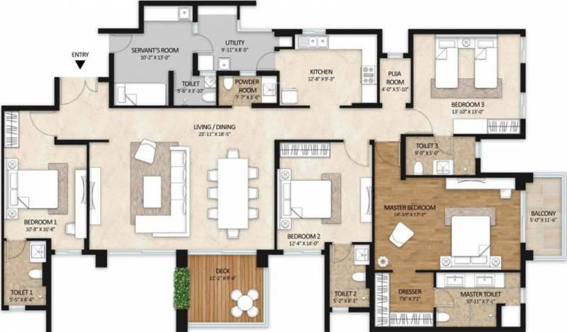Mahindra Windchimes Phase 2 (4BHK+5T (3,012 sq ft) + Servant Room 3012 sq ft)