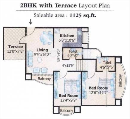1835 sq ft 3 bhk 3t apartment for sale in v r mittal for 1125 sq ft floor plan