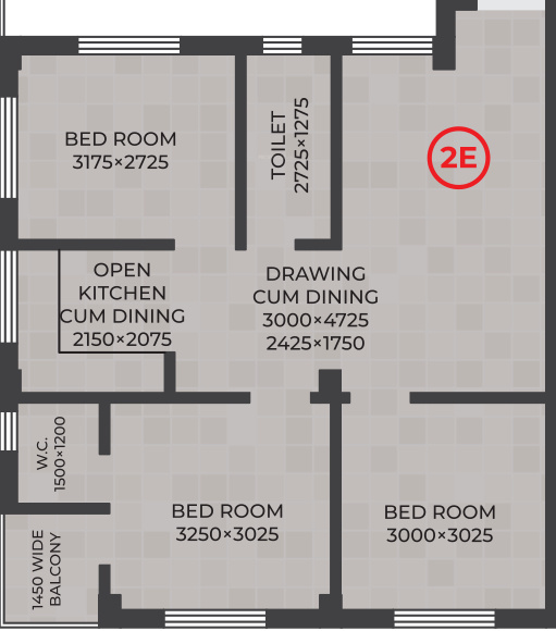 RDB Regent Lakeview (3BHK+2T (947 sq ft) 947 sq ft)
