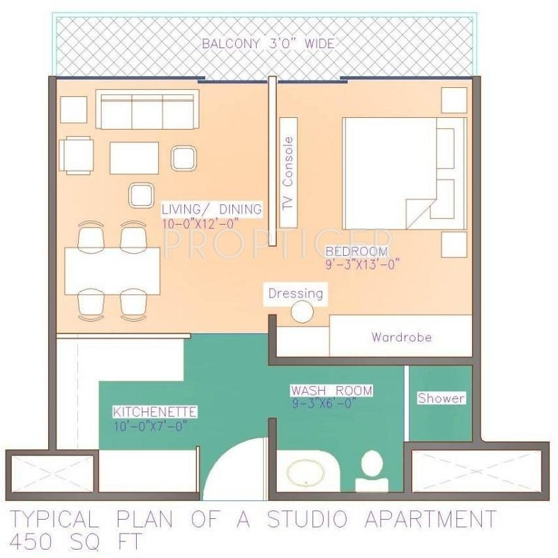 450 Sq Ft Studio 450 Sq Ft Floor Plan 450 Sq Feet Studio