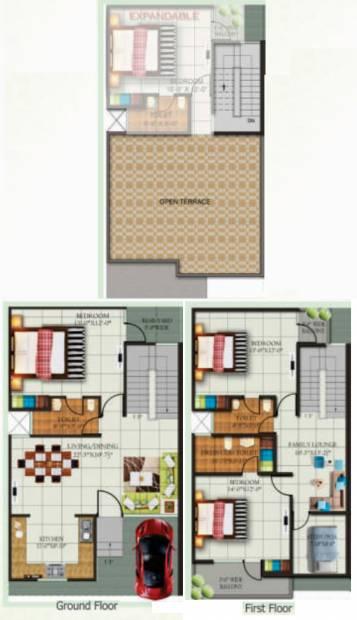 Kingson Green Villa (3BHK+3T (2,050 sq ft) + Study Room 2050 sq ft)