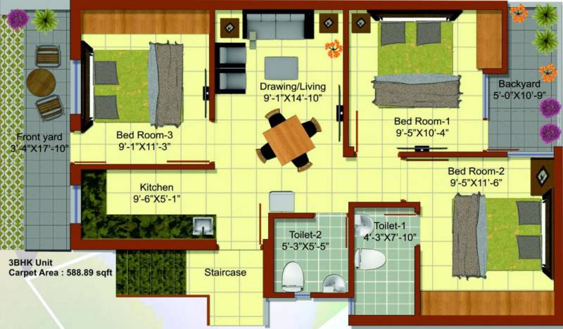 Shubhashray Housing India Shubhashray Jaipur Phase 1A (3BHK+3T (589 sq ft) 589 sq ft)