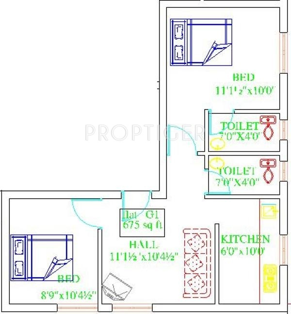 675 sq ft 2 bhk 2t apartment for sale in crest homes crest for 675 sq ft floor plan