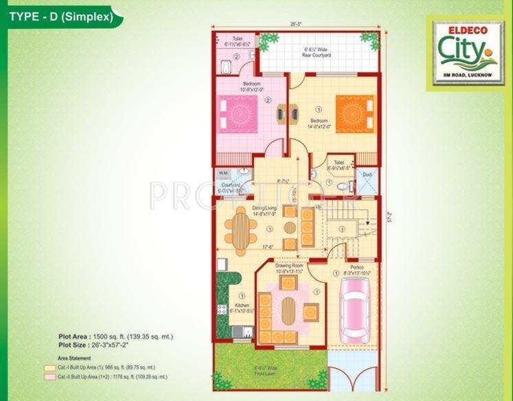 Eldeco City (2BHK+2T (1,500 sq ft) + Pooja Room 1500 sq ft)