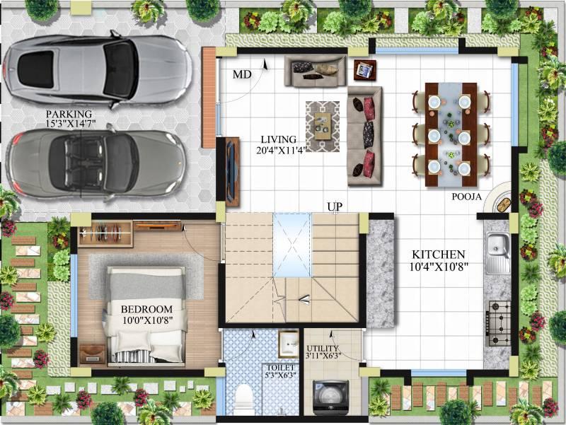 Abhee Prakruthi Villa (3BHK+3T (2,211 sq ft) 2211 sq ft)
