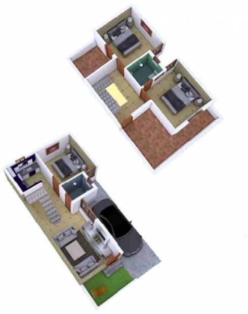 KR Villa Park (3BHK+3T (1,750 sq ft) 1750 sq ft)