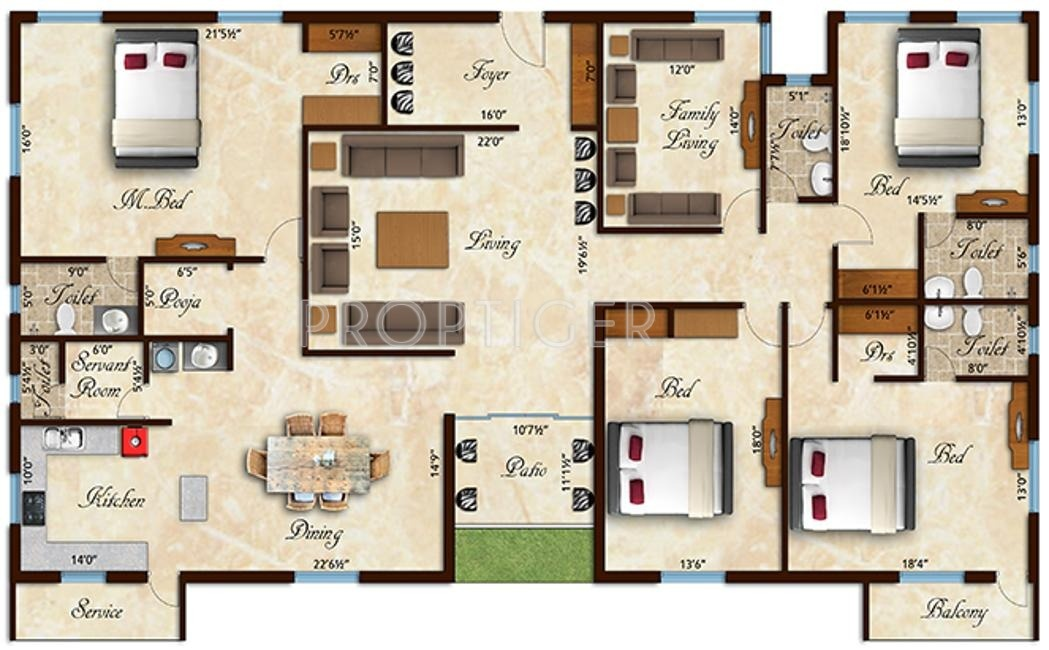 4000 sq ft 4 bhk 4t apartment for sale in rams builders