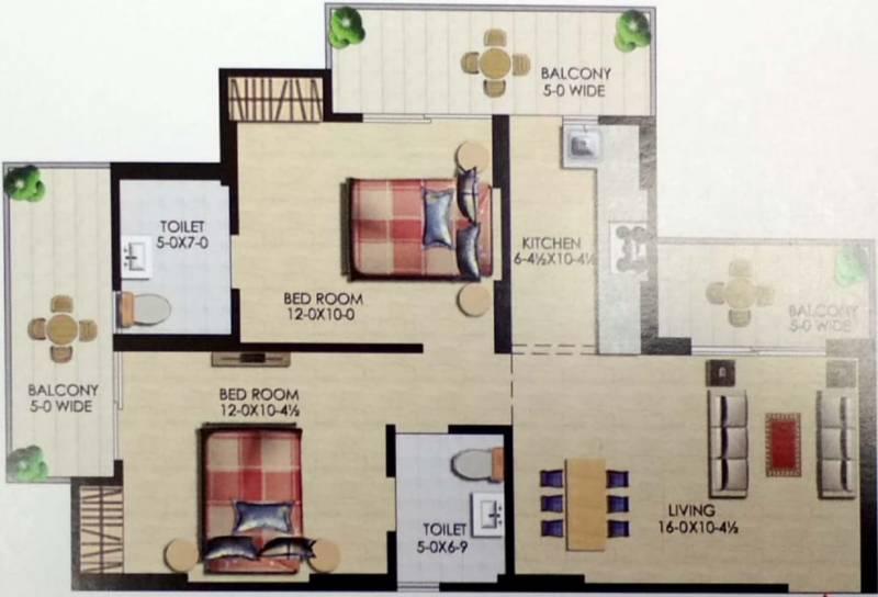 Uppal Casa Woodstock (2BHK+2T (1,098 sq ft) 1098 sq ft)