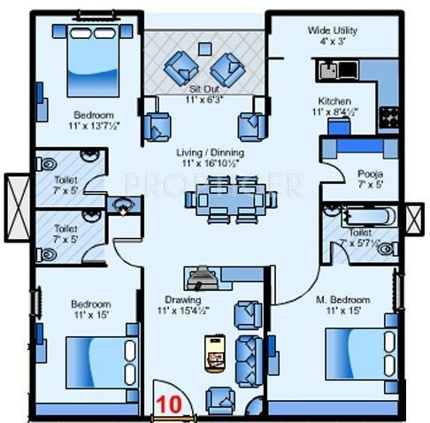 my home navadweepa floor plan 3bhk 3t 2100 sq ft 318608?width=800&height=620 2100 sq ft 3 bhk floor plan image my home navadweepa available,Floor Plans For My Home