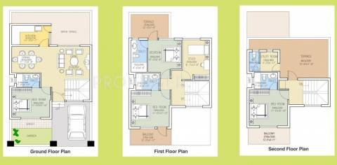 1875 Sq Ft 4 Bhk Floor Plan Image Dlf Garden City Available For Sale Rs In 49 69 Lacs Proptiger Com