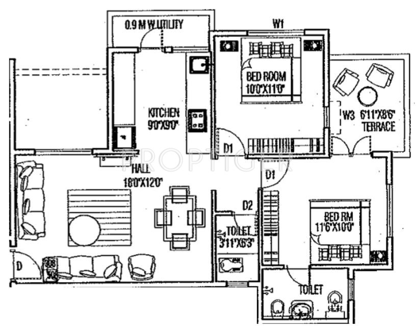 950 sq ft 2 bhk 2t apartment for sale in karda for 950 sq ft