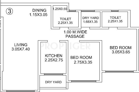 1200 sq ft 2 bhk 2t apartment for sale in hdil the meadows for 1200 sq ft apartment floor plans