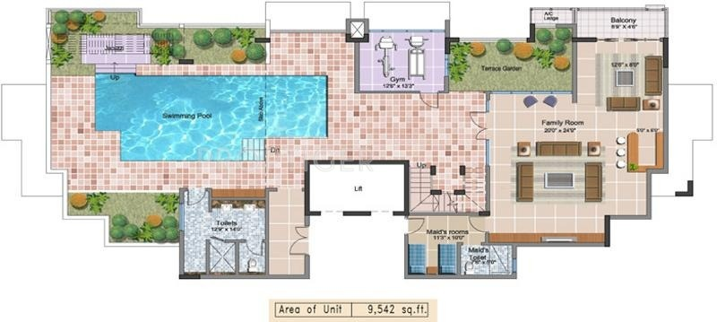 8000 sq ft 5 bhk floor plan image prestige group for 8000 sq ft home plans