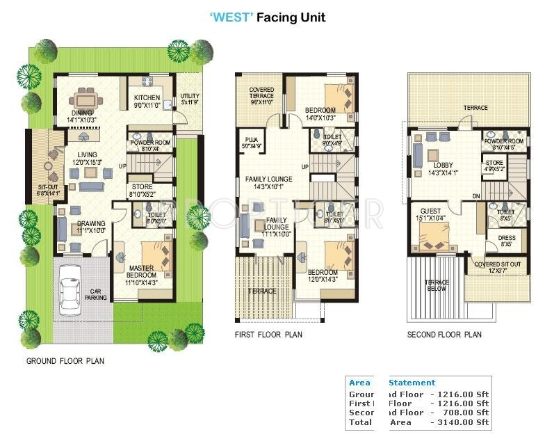 3140 sq ft 4 bhk 4t villa for sale in vertex homes lake