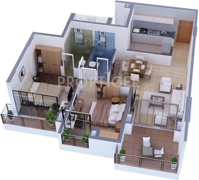 1350 Sq Ft 2 Bhk 2t Apartment For Sale In Tata Realty