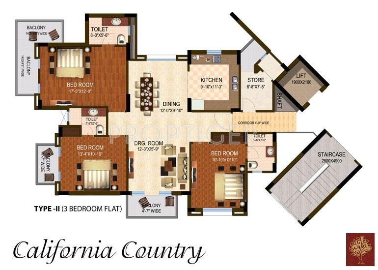 1200 sq ft 3 bhk 3t apartment for sale in dhingra projects for 1200 sq ft apartment floor plans