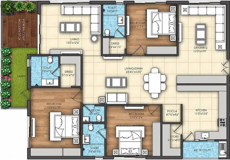 Omsree Signet (3BHK+4T (2,675 sq ft) + Servant Room 2675 sq ft)