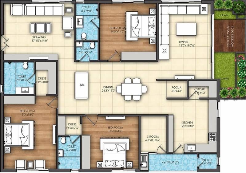 Omsree Signet (3BHK+4T (3,050 sq ft) + Servant Room 3050 sq ft)